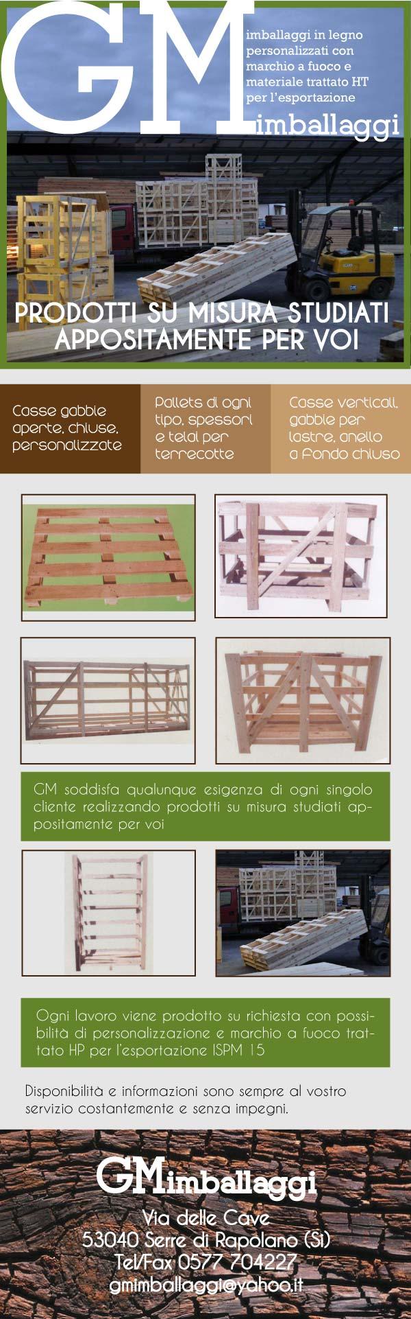 Gm Imballaggi in legno Prodotti